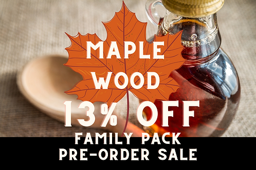 6-Pack (540 ml/each) of Maple Wood Maple Syrup