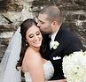 Groom kissing bride's head at UPG in Grensburg, PA