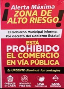 POLICÍA MUNICIPAL CIERRA CALLES A AMBULANTES.