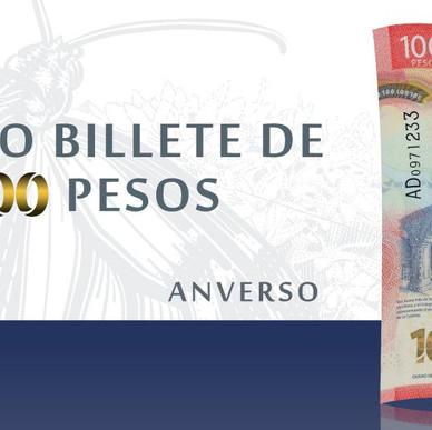 """BILLETE DE 100 PESOS GANA PREMIO A """"BILLETE DEL AÑO""""."""