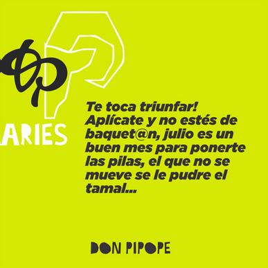HORÓSCOPOS DE JULIO
