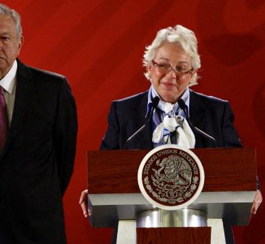 """""""EL PRESIDENTE SE ENCUENTRA BIEN Y FUERTE"""" : OLGA SÁNCHEZ CORDERO"""