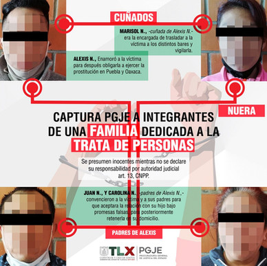 DETIENEN A FAMILIA ENTERA DEDICADA A LA TRATA DE PERSONAS, EN PUEBLA,TLAXCALA Y OAXACA.