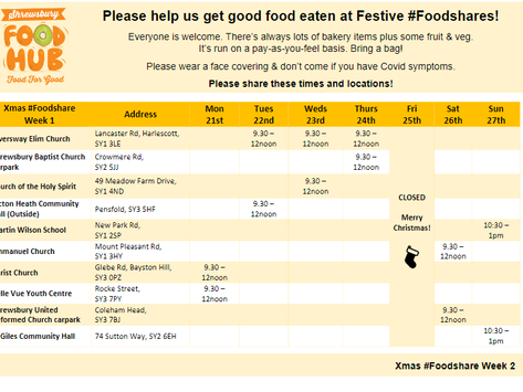 We need your help to #StopFoodWaste at Festive #Foodshares!