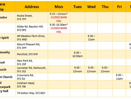 June #foodshares Timetable & FAQs