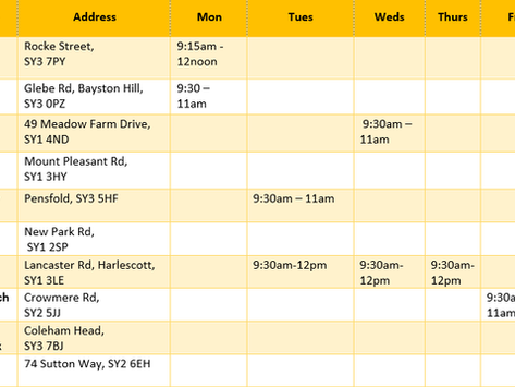 March #foodshares Timetable & FAQs