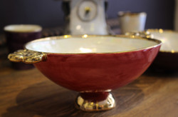 larg bowl red handles