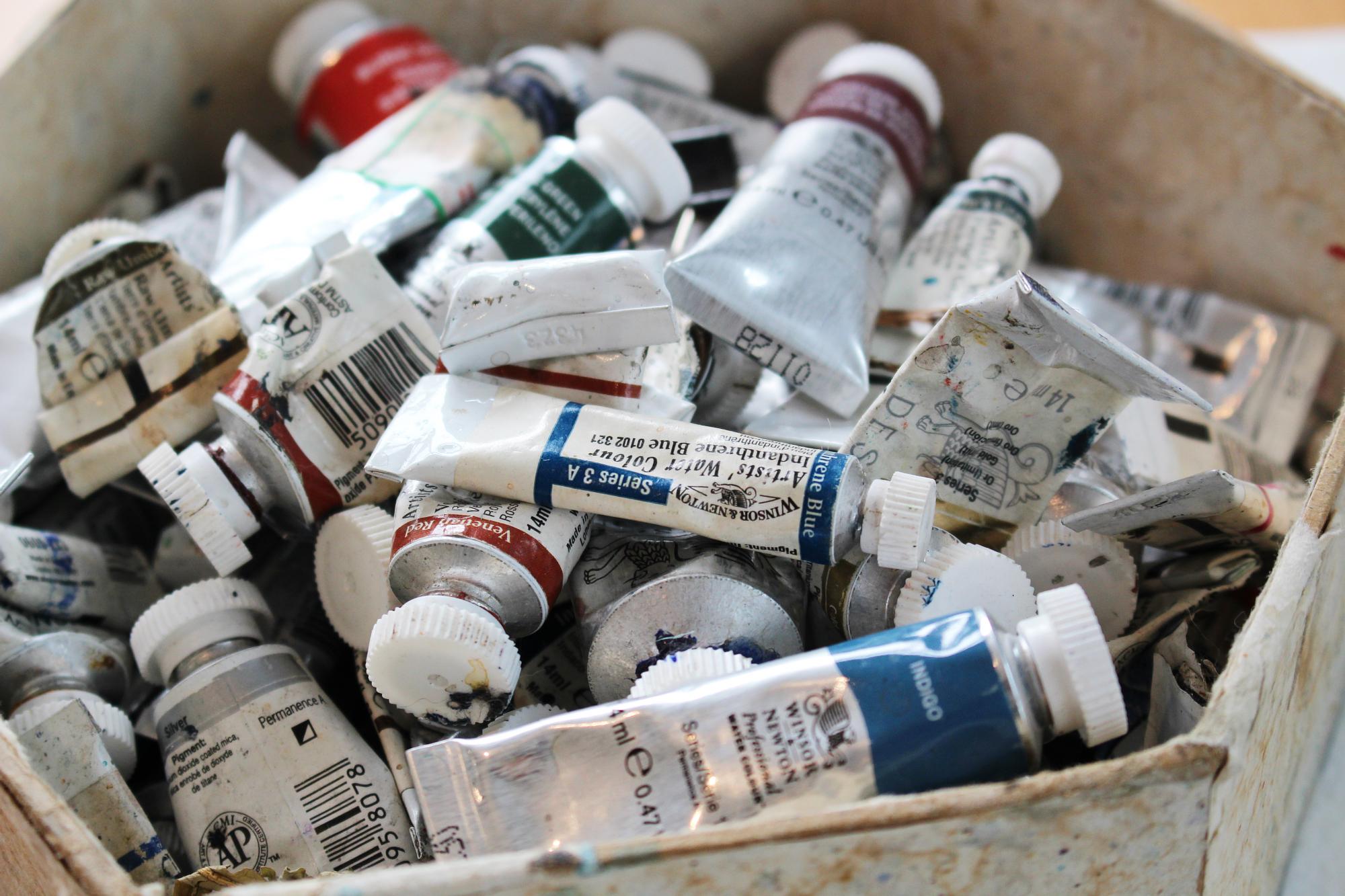JM paint tubes 2 Dulverton Studio Number