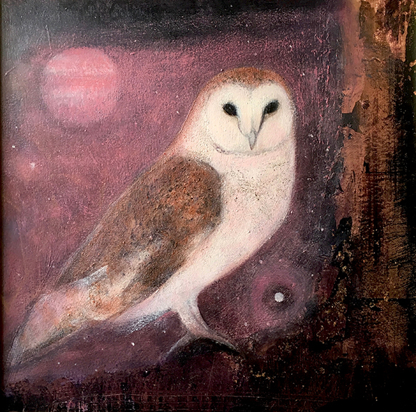 Solstice evening owl song