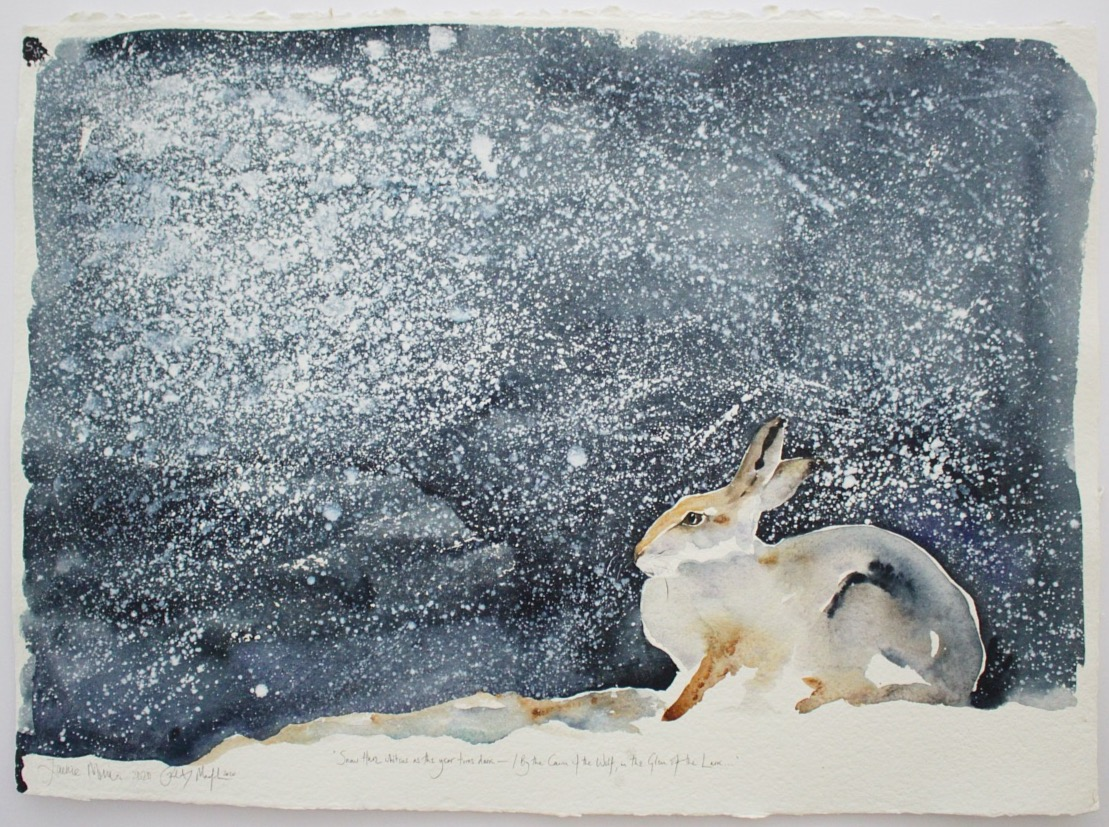 snow hare winter sky | the lost spells
