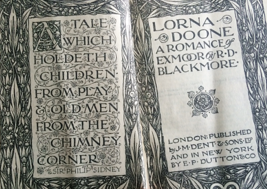 front pages lorna doone