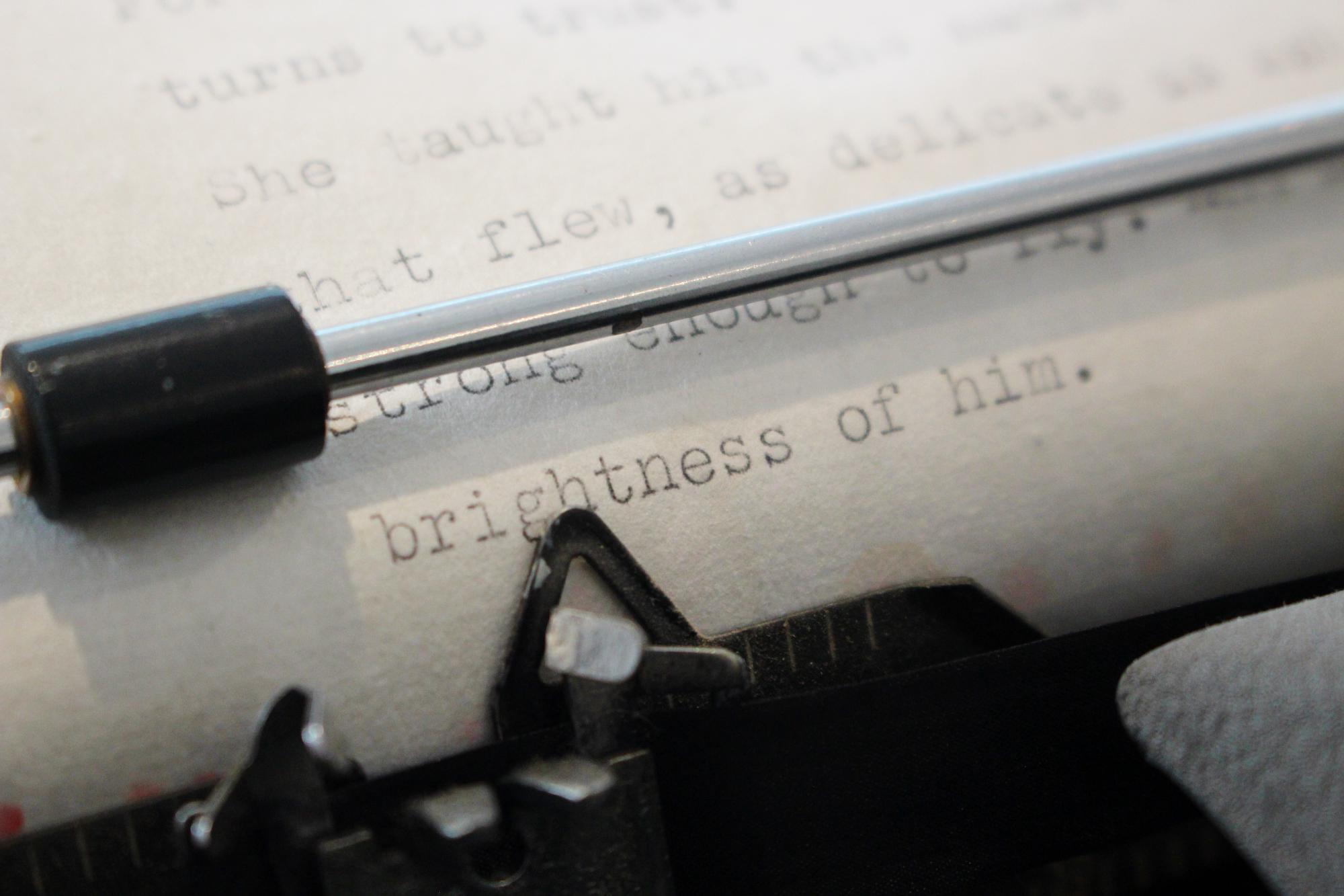 JM typewriter Dulverton Studio Numbersev