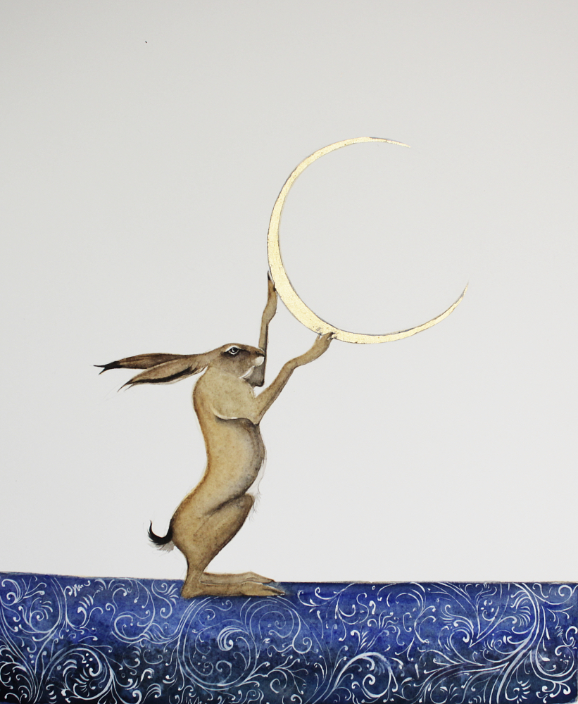 the hare who plays with the moon