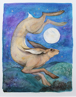 hare loved the moon