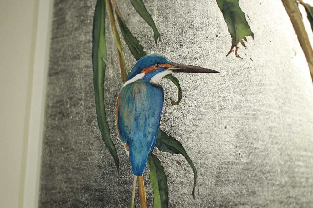 kingfisher and willow detail