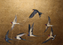 Golden Flight of Swallows