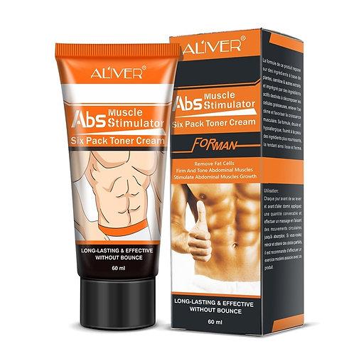 Creme Tonificante para Músculo Abdominal Masculino Natural 60ml