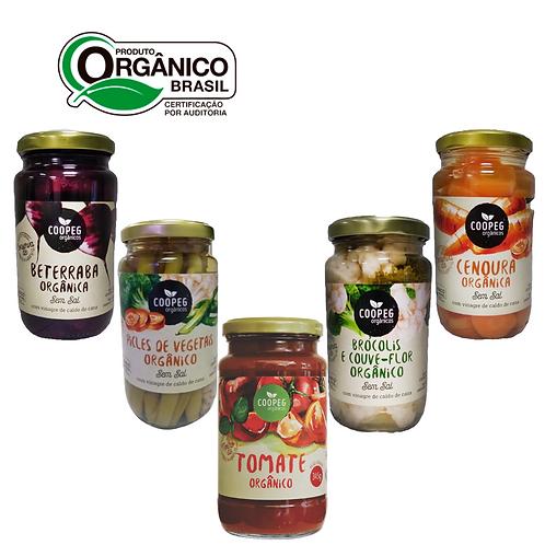 Cesta Orgânicos de Conservas e Molho de Tomate da Serra Gaúcha