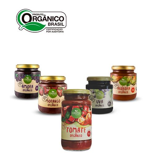 Cesta Orgânica Geleias e Molho de Tomate da Serra Gaúcha