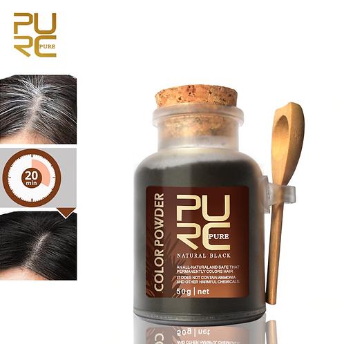 Tintura orgânica de carvão de bambu desintoxicação coloração de cabelo preto