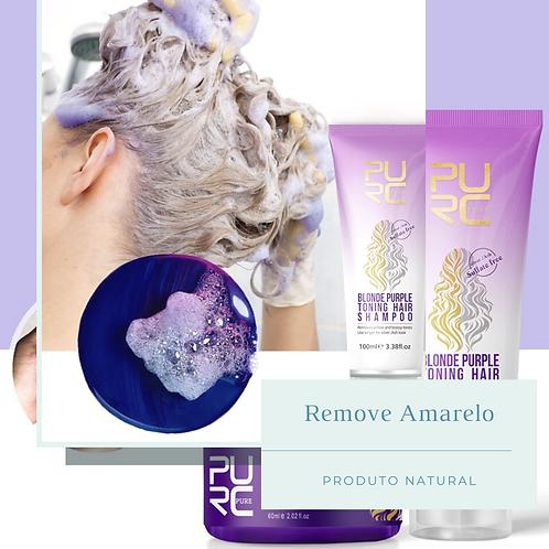 Shampoo e Máscara Roxos Anti Amarelo de Cabelos Loiros