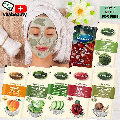 Máscara de Argila Orgânica  Controle de Óleo Hidratante 10 peças