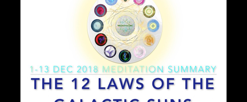 0:02 / 14:44 The 12 Dimensional Laws of the Galactic Suns: Meditation Summary