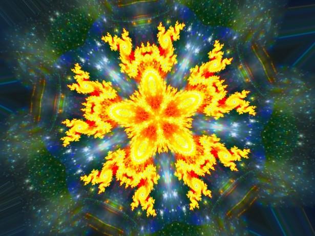 Fractal Kaleidoscope Flower by Irina Pechkareva