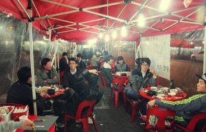 Pojang macha, Séoul, Corée du Sud, Rue de Séoul, Orange, Soju, Alcool sud-coréen, Seoul by night