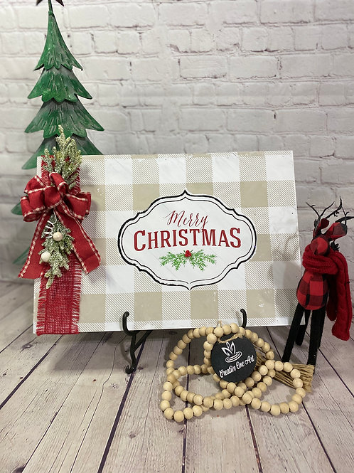 12x18 classic holiday decoritem