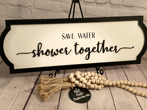 3D - Save Water Shower Together