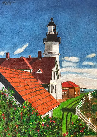 John Currean Portland Head Light back si