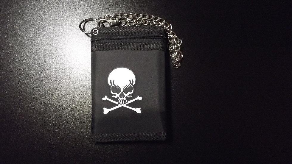 Skull & Crossbones Chain Wallet