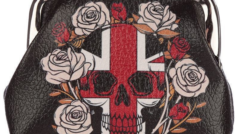 Skull/Rose Coin Purse   (c)