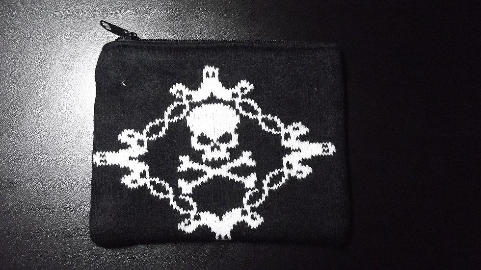 Knitted Skull & Crossbones Purse