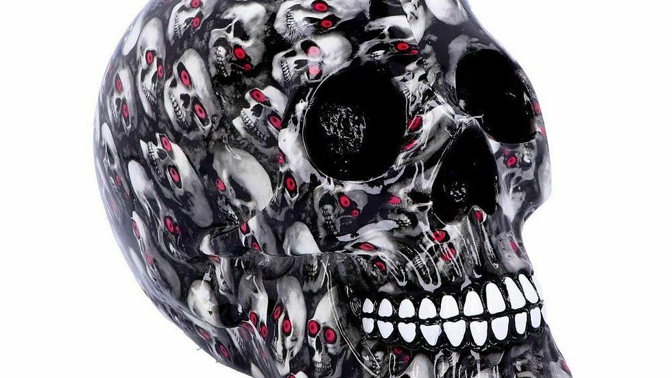 Red Eye Skulls on Resin Skull   (b)