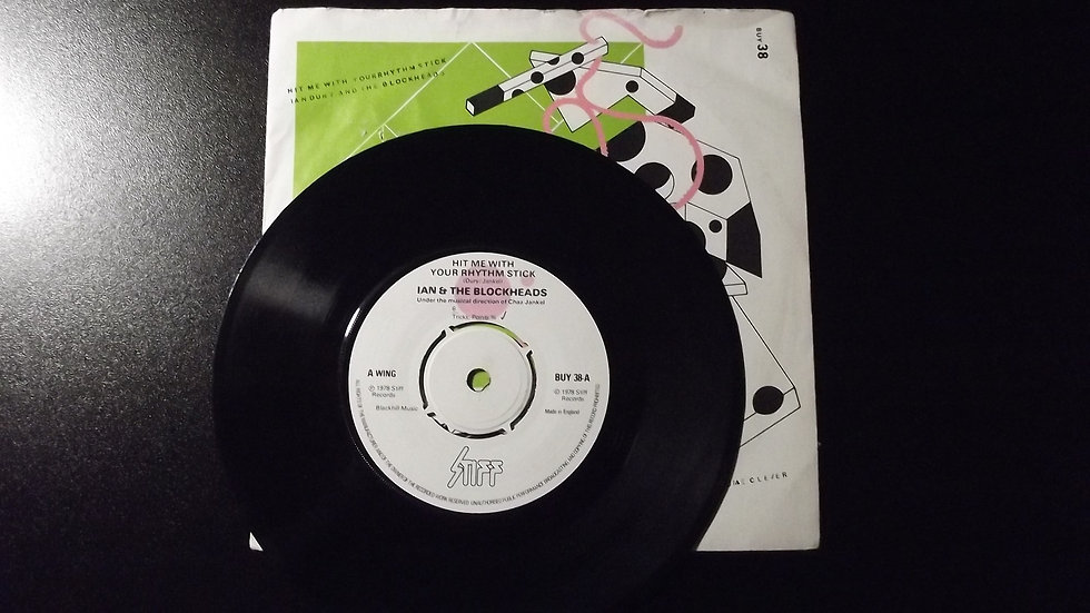 "Ian Dury & The Blockheads - Hit Me With Your Rhythm Stick 7"" Single"