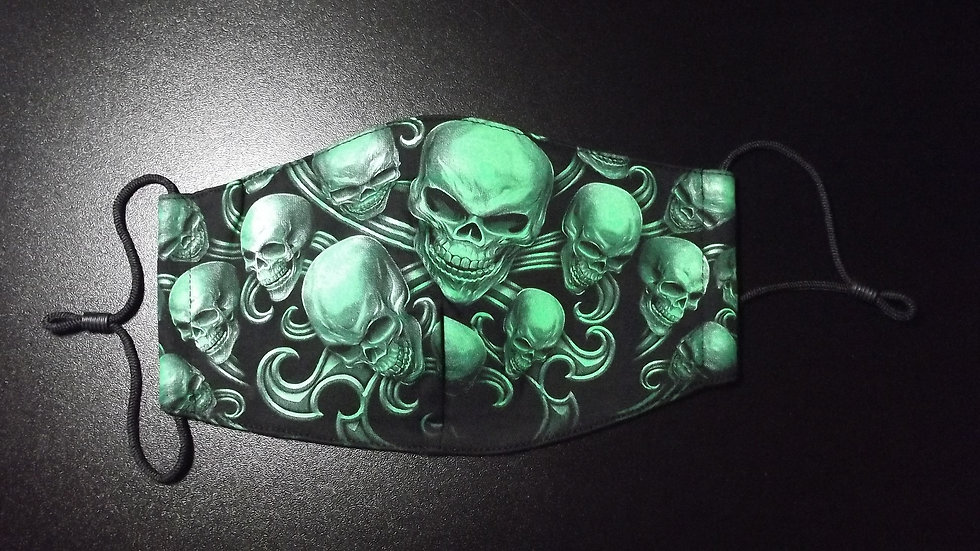 3d Glow In The Dark Skull Facemask   (a)