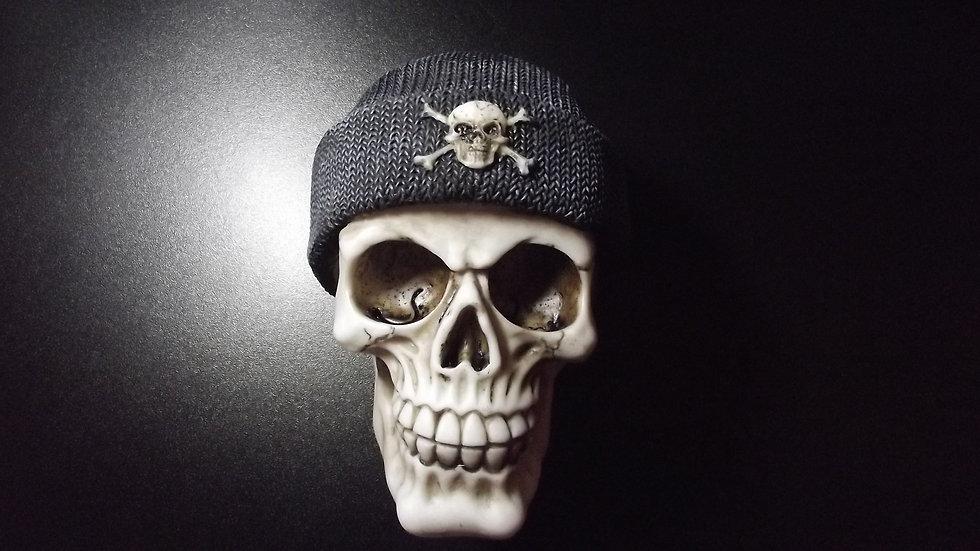 Beanie Hat Resin Skull   (a)