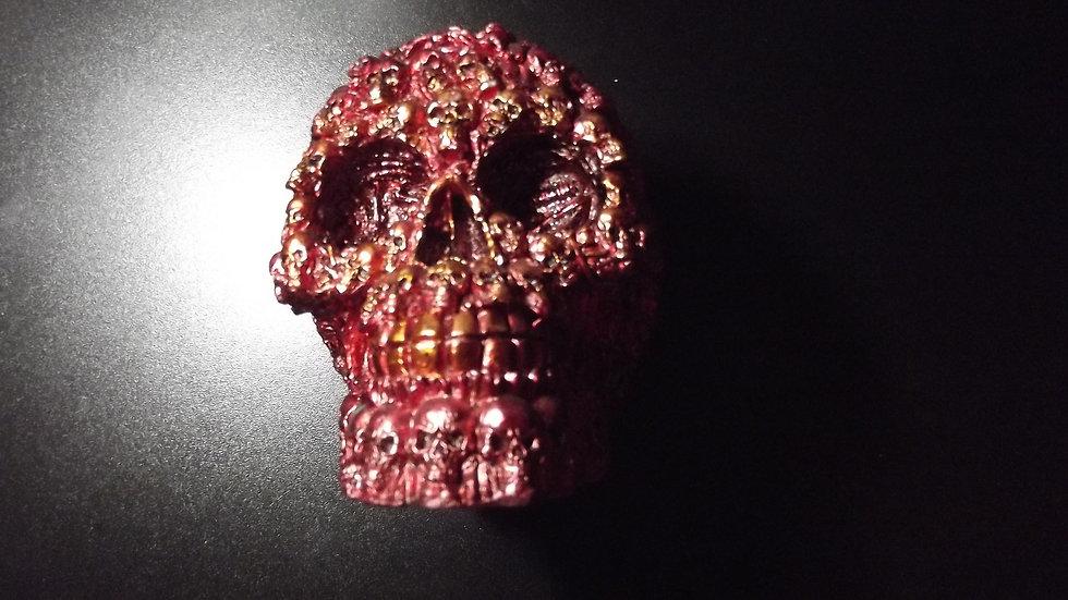 Red Resin Skulls Skull   (a)