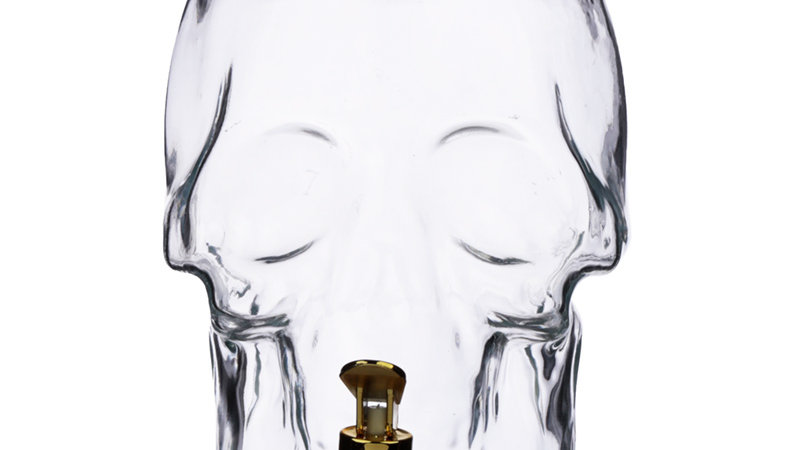 Skull Shaped Glass Water (Lets Face It BEER) Decanter   (b)