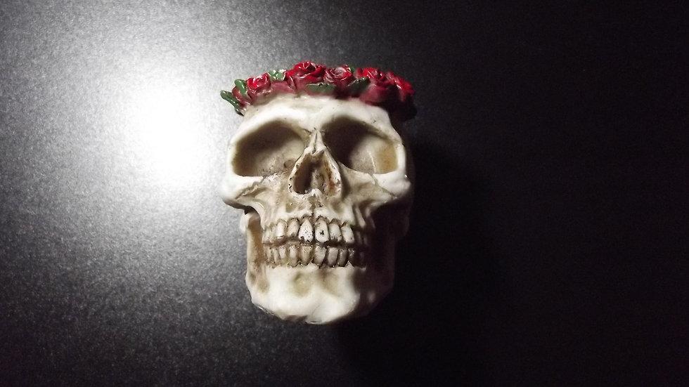 Resin Rose Skull Tealight Holder   (a)