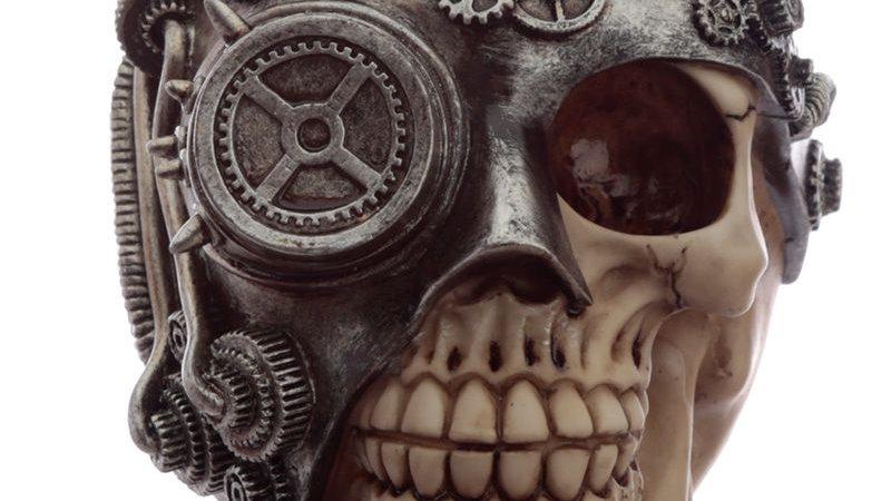 Steampunk Resin Skull   (c)