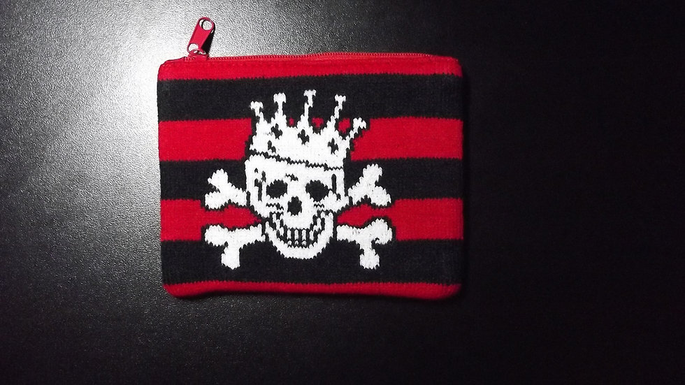Knitted Crown Skull Purse