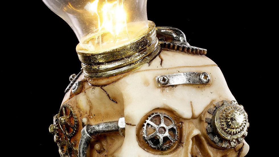 Steampunk Idea Light Up Bulb Skull   (b)