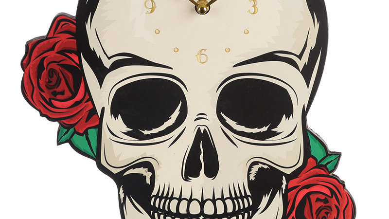 Skull Shaped Picture Clock