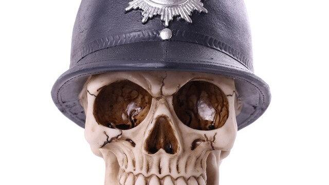 Police Resin Skull   (a)