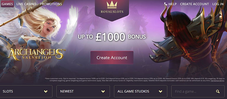 Royal Slots Casino Review - Home Page Lo