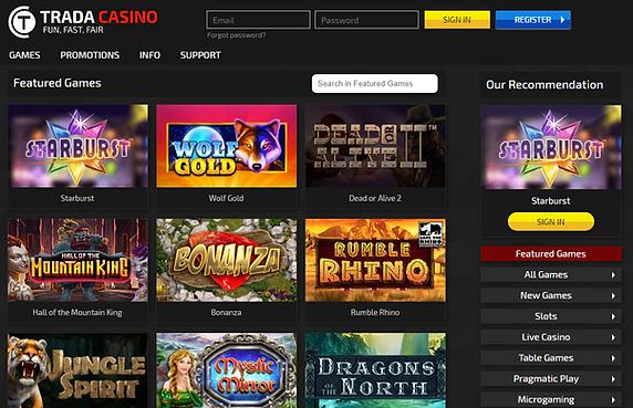 Trada UK Casino Review