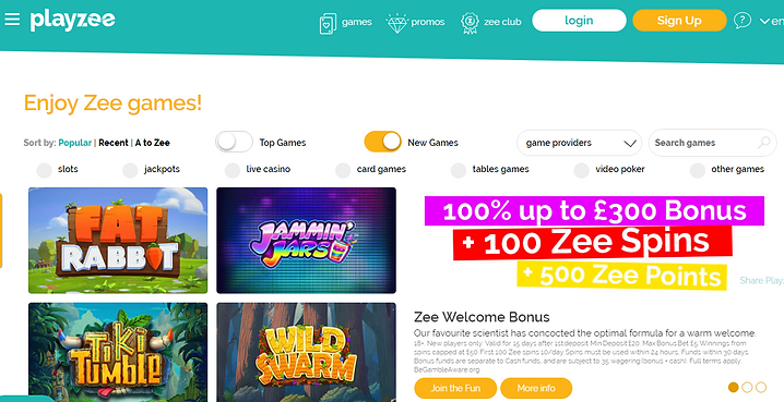 Playzee UK Casino Review
